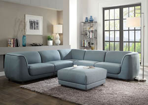 Adina Light Blue Sectional Sofa