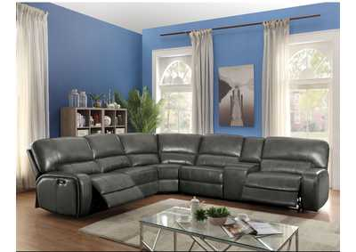 Image for Saul Gray Sectional Sofa (Power Motion/USB)