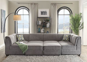 Bois Gray Velvet Sleeper Sofa