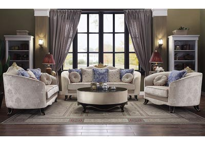 Image for Sheridan Cream Upholstered Sofa and Loveseat