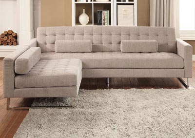 Sampson Beige Sofa w/Pillow