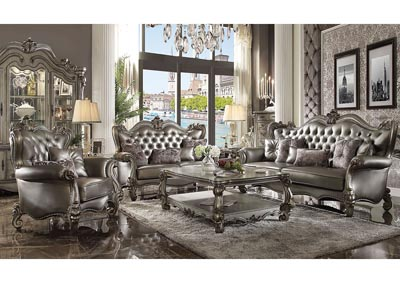Image for Versailles Silver Sofa and Loveseat