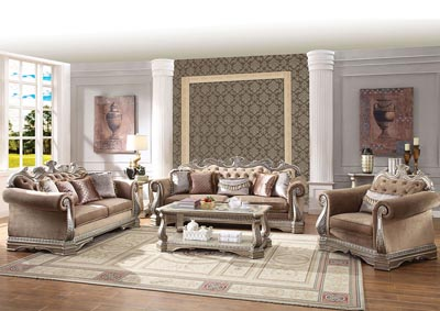 Image for Northville Antique Champagne Upholstered Sofa and Loveseat