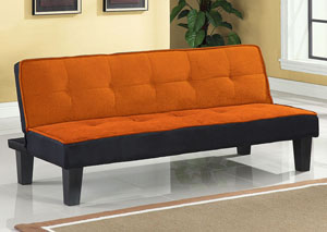 Hamar Orange Flannel Adjustable Sofa