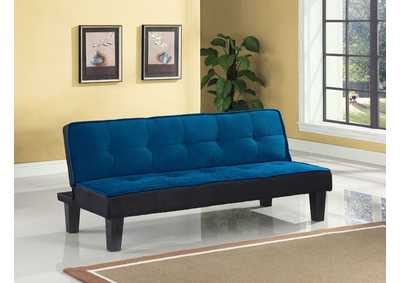 Hamar Blue Flannel Adjustable Sofa