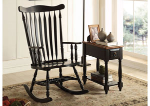 Kloris Black Rocking Chair
