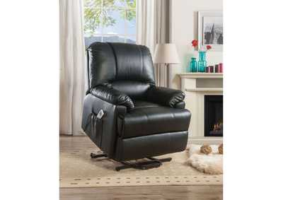 Image for Ixora Black Power Lift Recliner w/Massage