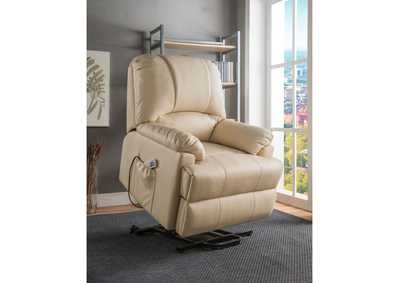 Image for Ixora Beige Power Lift Recliner w/Massage