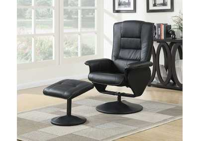 Image for Arche Black Chair and Ottoman (Set of 2)