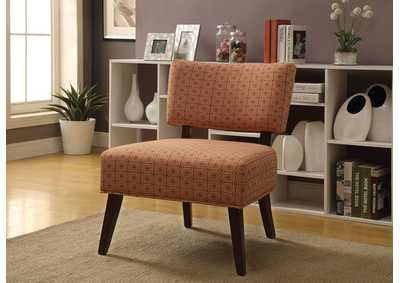 Able Orange/Espresso Accent Chair