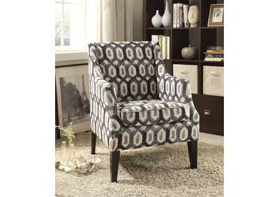 Zarate Pattern Fabric Accent Chair
