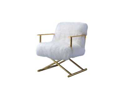 Bagley Gold Brass Accent Chair