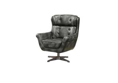 Asotin Vintage Black Accent Chair