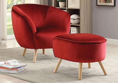Admirable Charisma Furniture Aisling Red Accent Chair Creativecarmelina Interior Chair Design Creativecarmelinacom