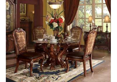 Dresden Cherry Oak Dining Table w/Pedestal