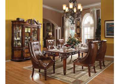 Winfred Cherry Dining Table w/6 Side Chairs
