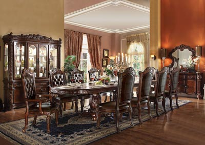 Vendome Cherry Rectangular Dining Table w/2 x 21