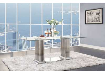 Image for Cyrene Stainless Steel Dining Table