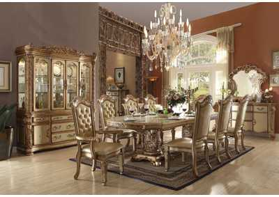 Vendome Gold Patina/Bone China Cabinet