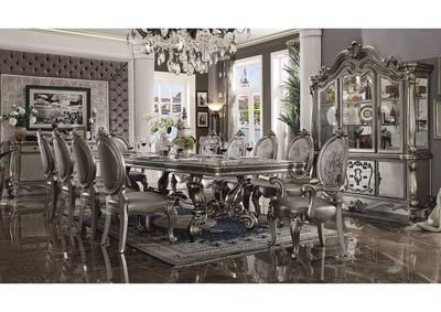 "Image for Versailles Antique Platinum 120"" Dining Table w/2 Armed Chair & 8 Side Chair"
