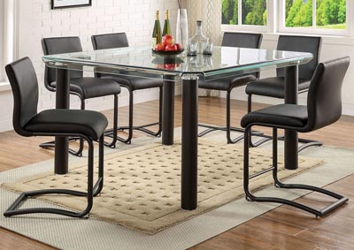 Image for Gordie Black Counter Chair (Set of 2)
