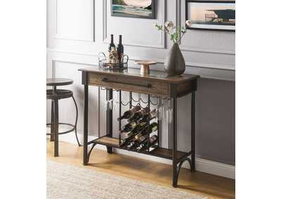 Image for Halyn Walnut/Black Bar Table