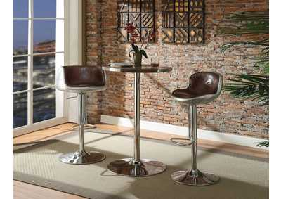 Image for Brancaster Retro Brown/Aluminum Bar Table