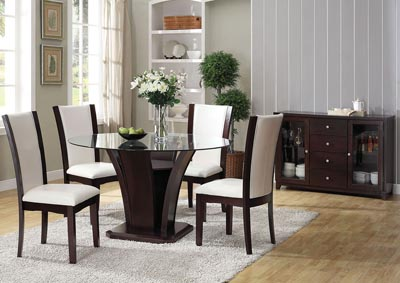 Malik Espresso Round Dining Table