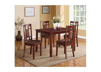 Image for Sonata Cherry/Chocolate Dining Set (Set of 5)