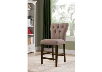 Effie Light Brown Counter Height Chair