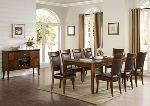 Belinda Espresso PU U0026 Walnut Side Chair (Set Of 2)