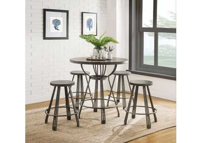 Image for Davin Espresso Counter Dining Set (Set of 5)