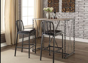 Jodie Black/Black Bar Chair (Set of 2)