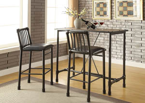 Image for Caitlin Black/Black Bar Chair (Set of 2)