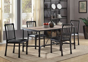 Image for Caitlin Black/Black Side Chair (Set of 2)
