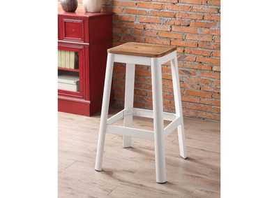 Image for Jacotte Natural/White Bar Stool