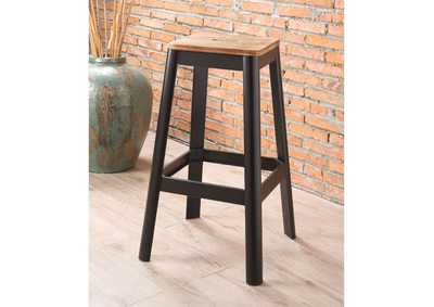 Image for Jacotte Natural/Black Bar Stool