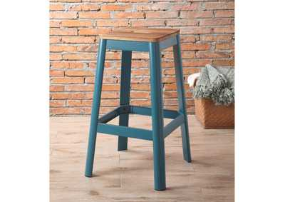 Image for Jacotte Natural/Teal Bar Stool