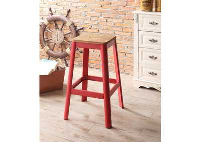 Image for Jacotte Natural/Red Bar Stool