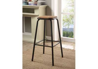 Image for Scarus Natural/Black Bar Stool (Set of 2)