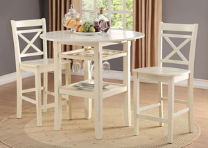 Image for Tartys Cream Counter Chair (Set of 2)