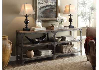 Image for Gorden Oak/Silver Console Table