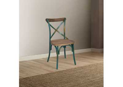 Image for Zaire Antique Turquoise/Oak Side Chair