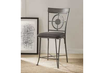 Image for Landis Gunmetal Counter Chair (Set of 2)