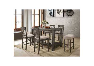 Image for Martha II Tan/Weathered Oak Counter Chair (Set of 2)