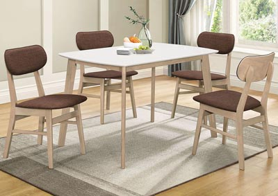 Rosetta II White Dining Table