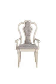 Kayley Antique White Arm Chair (Set of 2)