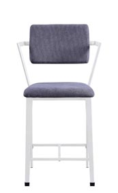 Image for Cargo Gray/White Counter Chair (Set of 2)