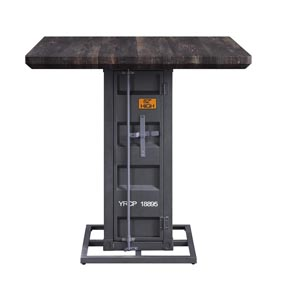 Cargo Walnut/Gunmetal Counter Table