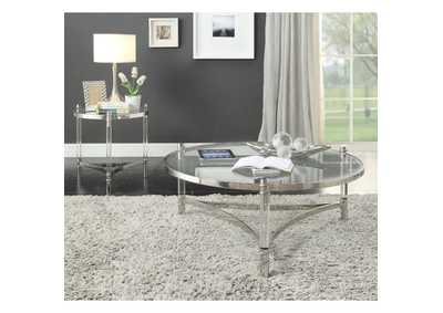 Image for Peony Clear Acrylic/Stainless Steel Coffee Table